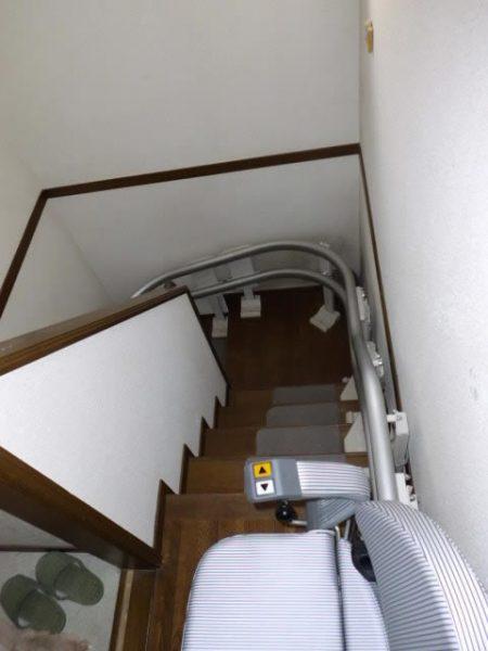 兵庫県西宮市N様 階段昇降機・手すり設置工事後01