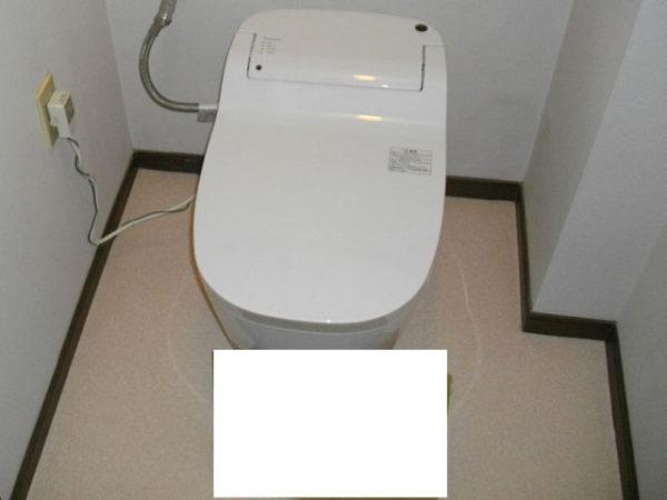 大阪府箕面市O様 トイレ(便器・ウォシュレット)取替、床貼替え工事