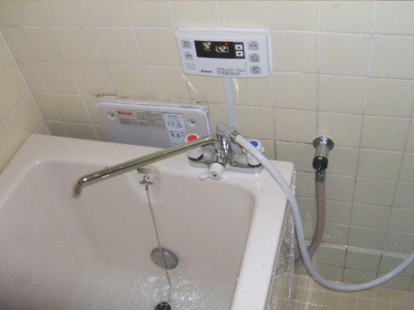 大阪府箕面市I様 浴槽・パックイン給湯器・浴室水栓(シャワー)取替交換リフォーム-03