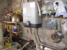 大阪府池田市M様 小型湯沸器取替交換リフォーム-1